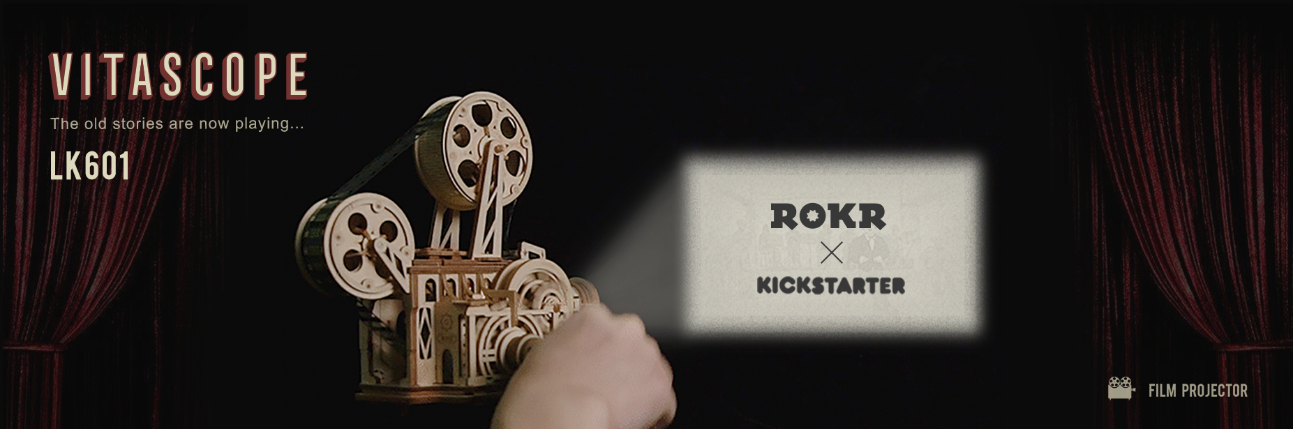 ROKR LK601 Vintage Movie Projector, Now Available on Kickstarter
